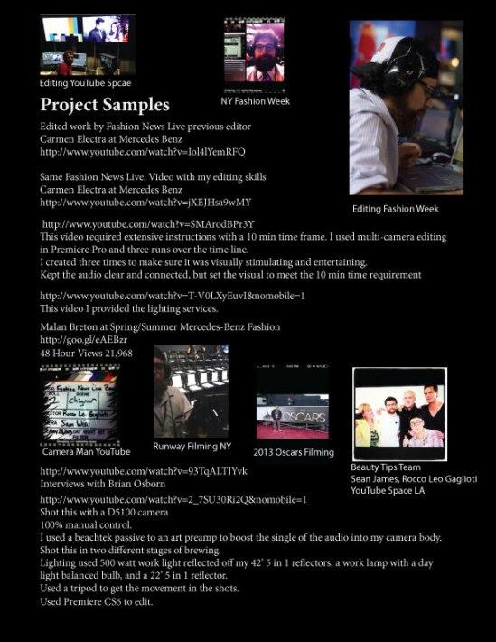 Sam Palomin Film Project Links